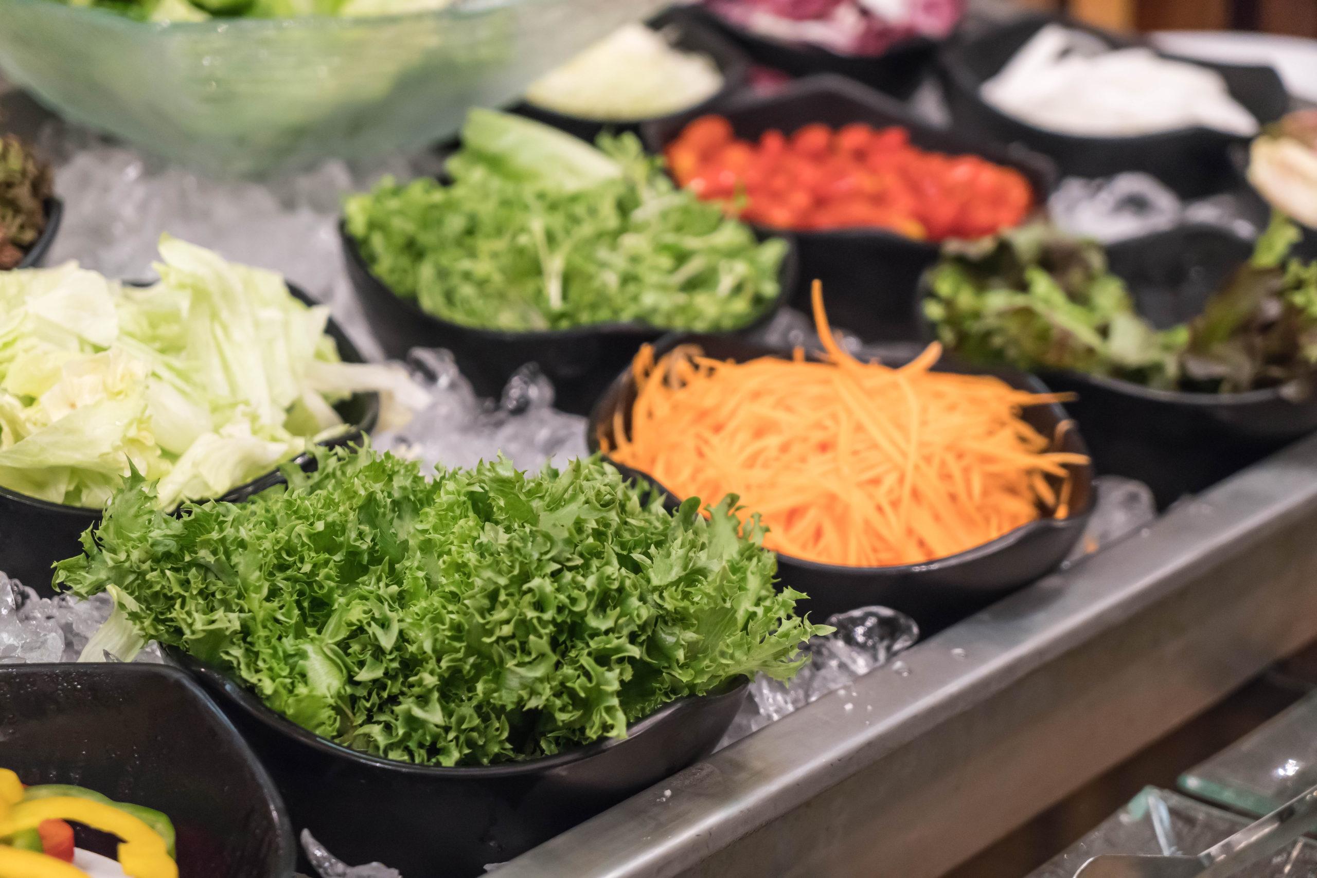 Légumes râpés pour préparer une Salad'Bar