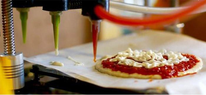 Imprimante alimentaire 3d à pizza
