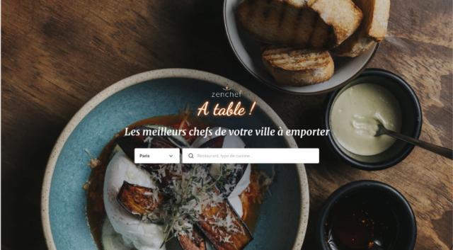 Page d'accueil de la plateforme click and collect « À table ! »