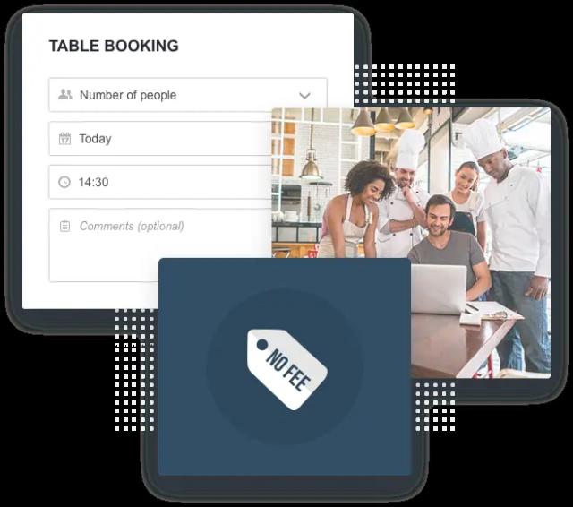 Une équipe de restaurateur en train de checker un système de réservation en ligne pour restaurant